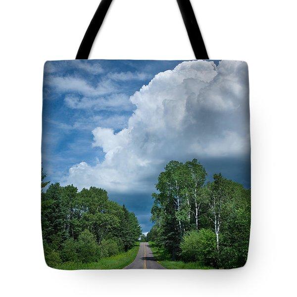 Northwoods Road Trip Tote Bag by Steve Gadomski