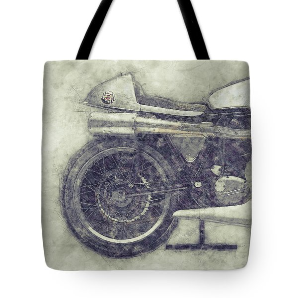 Norton Manx 1 - Norton Motorcycles - 1947 - Vintage Motorcycle Poster - Automotive Art Tote Bag