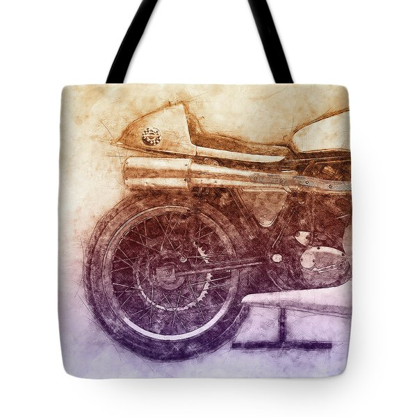 Norton Manx 2 - Norton Motorcycles - 1947 - Vintage Motorcycle Poster - Automotive Art Tote Bag