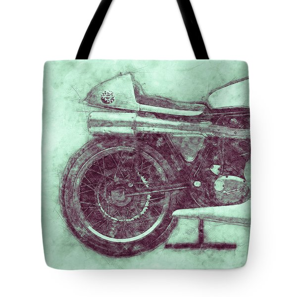 Norton Manx 3 - Norton Motorcycles - 1947 - Vintage Motorcycle Poster - Automotive Art Tote Bag