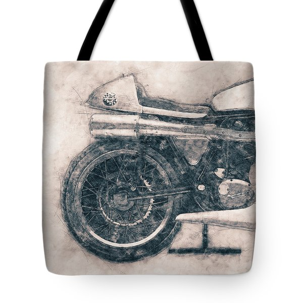 Norton Manx - Norton Motorcycles - 1947 - Vintage Motorcycle Poster - Automotive Art Tote Bag