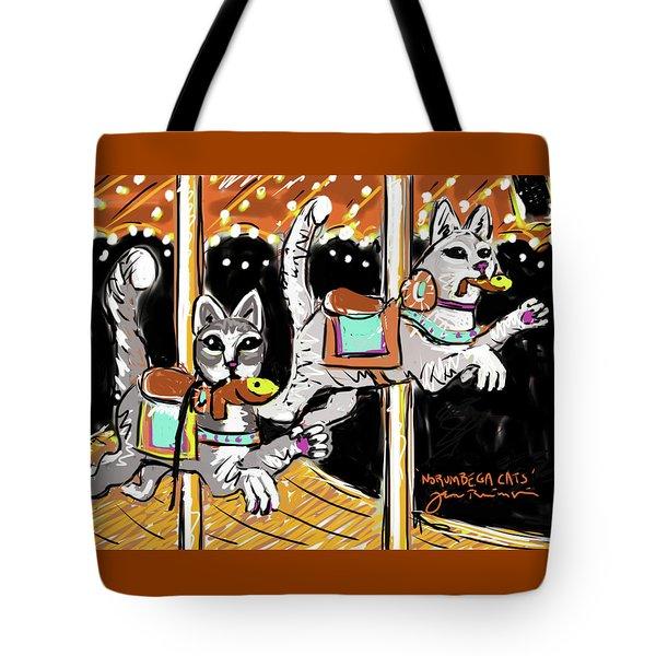 Norumbega Cats Tote Bag