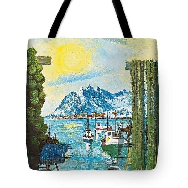 Norway Coast, Vintage Travel Poster Tote Bag