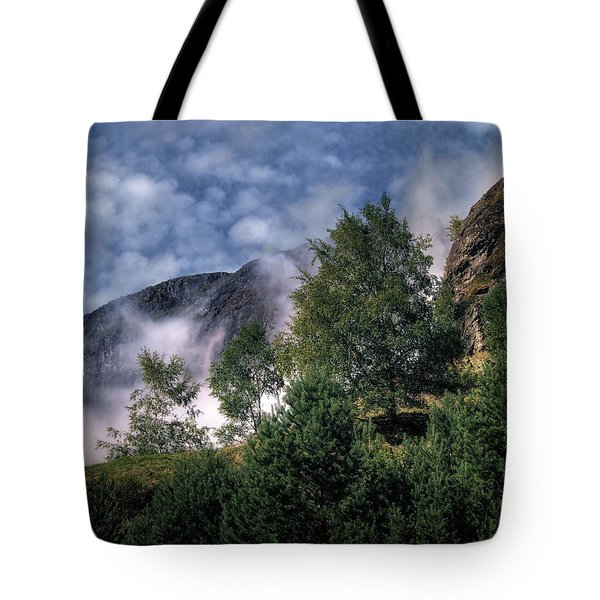 Norway Mountainside Tote Bag by Jim Hill