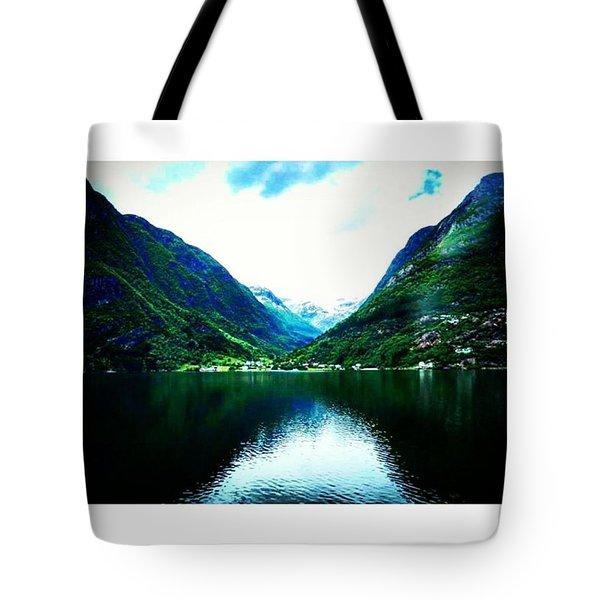 Norwegian Lake Tote Bag by Vicki Giannakopoulos