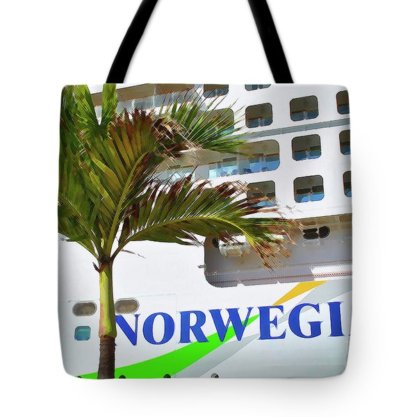 Tote Bag featuring the photograph Norwegian Cruise Line by Jost Houk