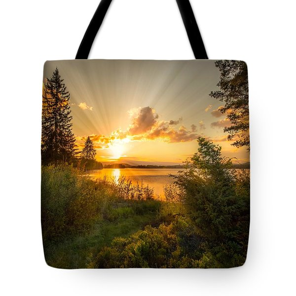 Norwegian Landscape Tote Bag by Rose-Maries Pictures