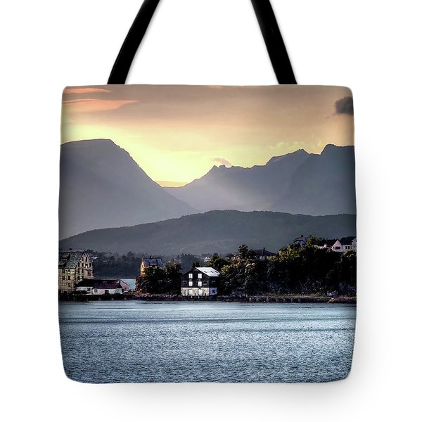 Norwegian Sunrise Tote Bag by Jim Hill