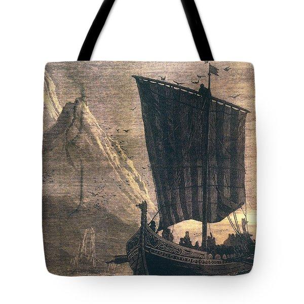Norwegian Viking Longship Tote Bag