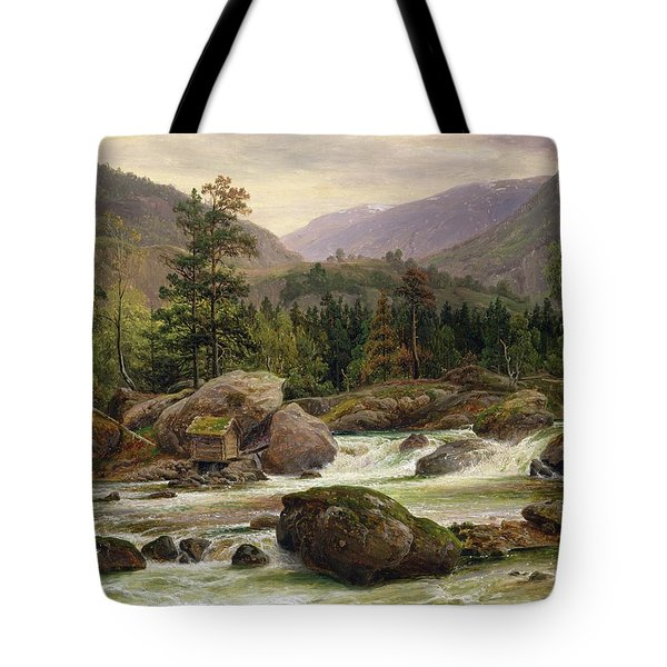 Norwegian Waterfall Tote Bag by Thomas Fearnley