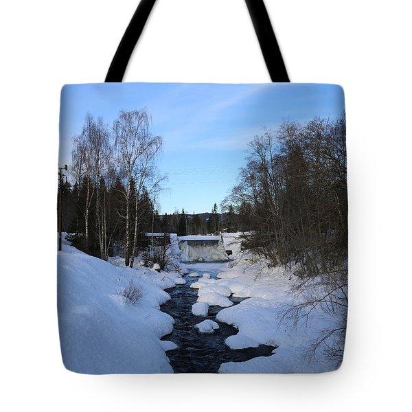 Norwegian Winter Landscape.  Tote Bag