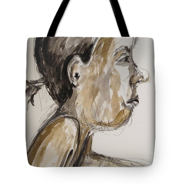 Tote Bag featuring the painting Nose Job Nose by Esther Newman-Cohen