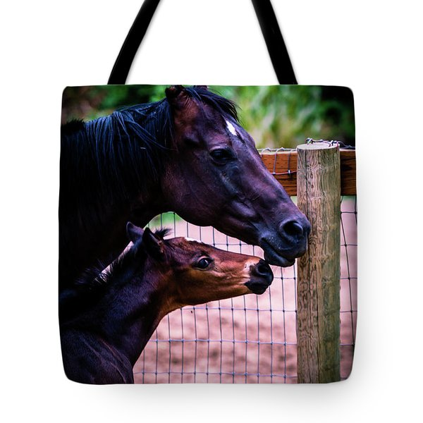 Tote Bag featuring the photograph Nose To Nose by Bryan Carter