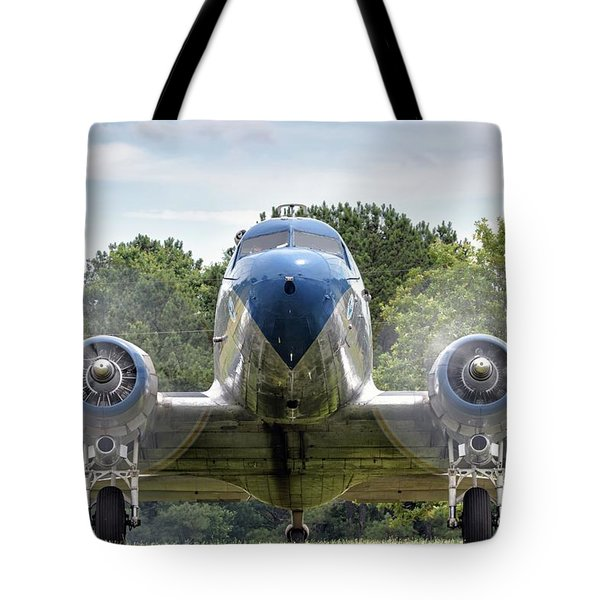 Nose To Nose With A Dc-3 Tote Bag