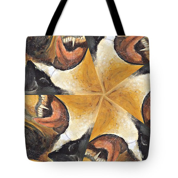 Nose Tongue And Teeth Tote Bag