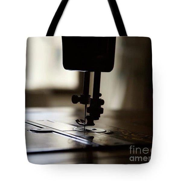 Nostalgia ..sewing Machine Silhouette Tote Bag