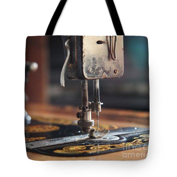 Nostalgia ...vintage Neva Treadle Sewing Machine  Tote Bag