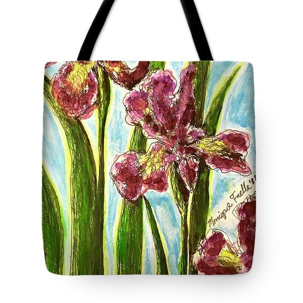 Nostalgic Irises Tote Bag