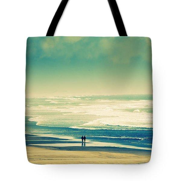 Nostalgic Oceanside Oregon Coast Tote Bag by Amyn Nasser