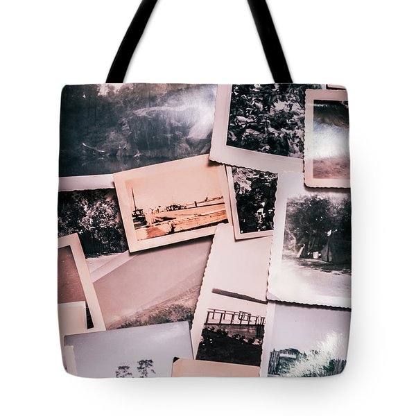 Nostalgic Photo Print Background Of A Collection Of Old Faded Sc Tote Bag