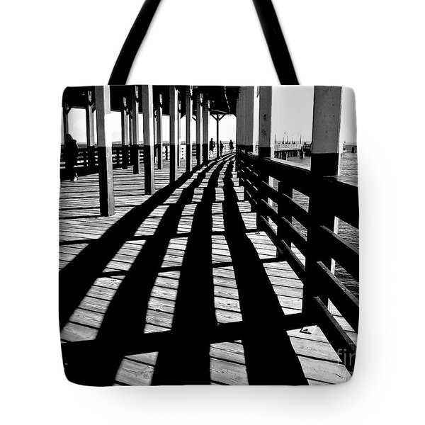 Nostalgic Walk On The Pier Tote Bag