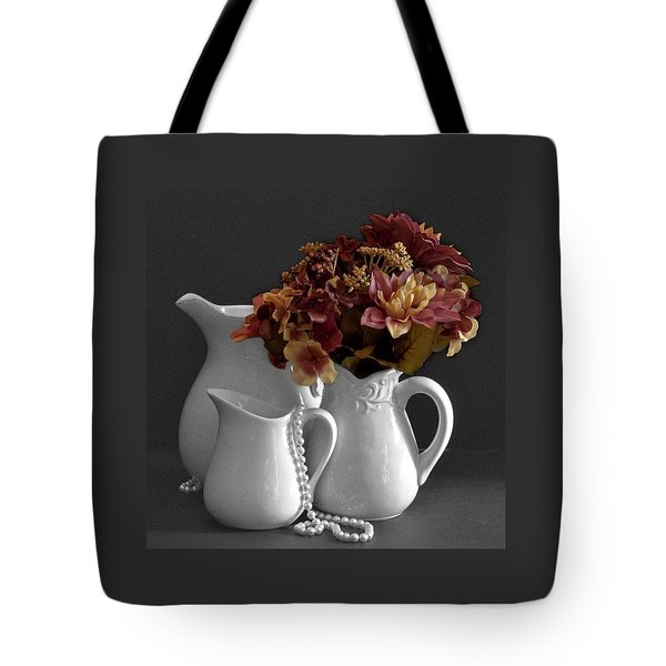 Not All Is Black And White Tote Bag