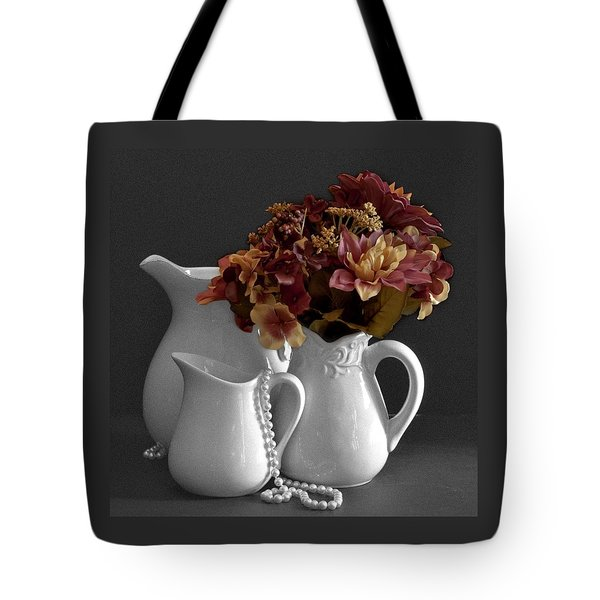 Tote Bag featuring the photograph Not All Is Black And White by Sherry Hallemeier