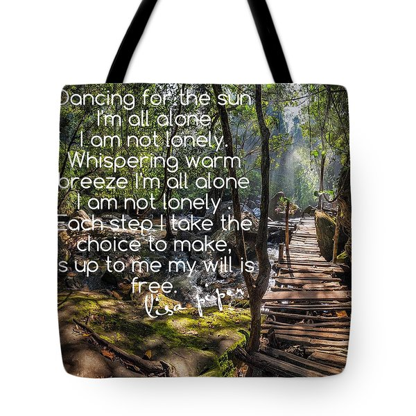 Not Alone Tote Bag by Lisa Piper