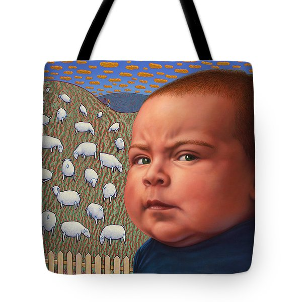 Not Crying Wolf Tote Bag by James W Johnson