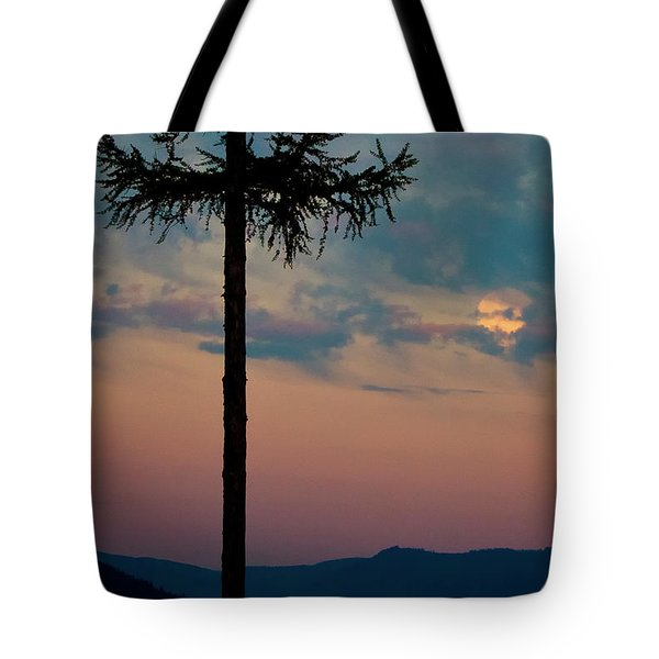 Not Quite Clearcut Tote Bag by Albert Seger