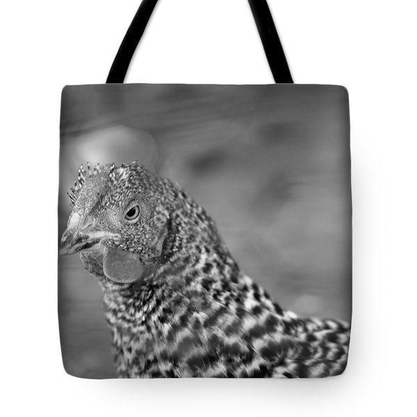 Tote Bag featuring the photograph Not Your Chicken Dinner by Lora Lee Chapman