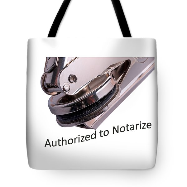Notary Public Slogan Tote Bag