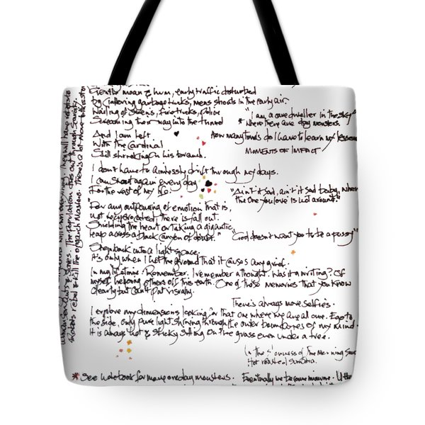 Tote Bag featuring the mixed media Notes by Carolyn Weltman