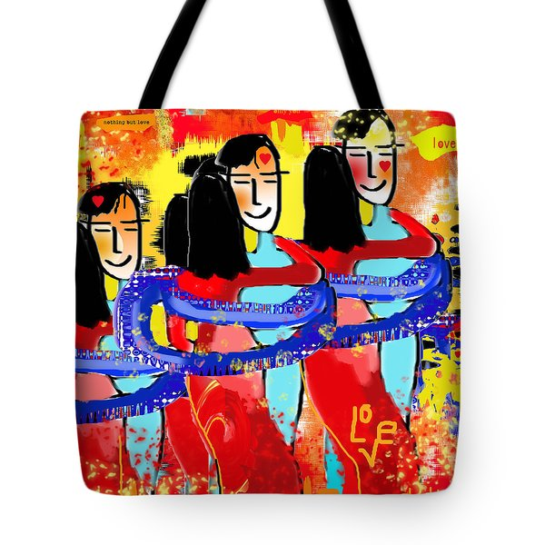 Nothing But Love  Tote Bag by Sladjana Lazarevic