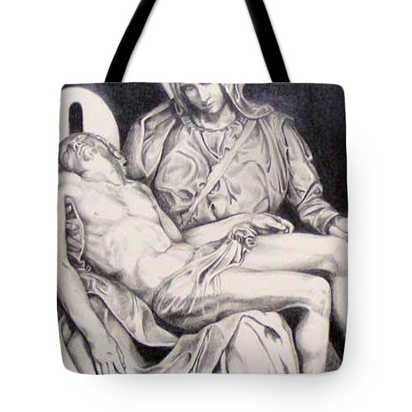 Nothing Can Be Added - Close Up Pieta Tote Bag by Amy S Turner