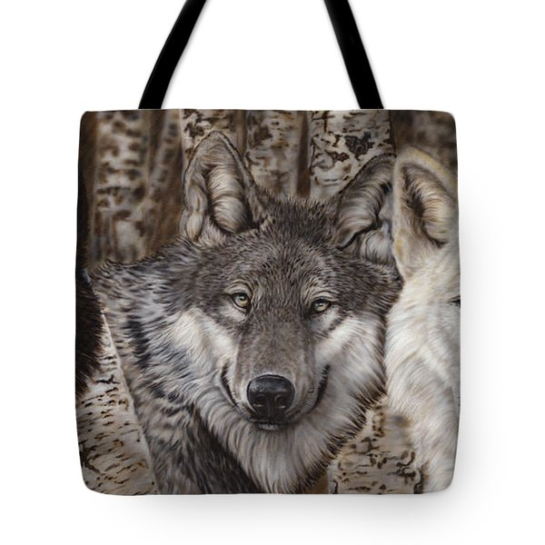 Nothing Is Ever Just Black And White Tote Bag