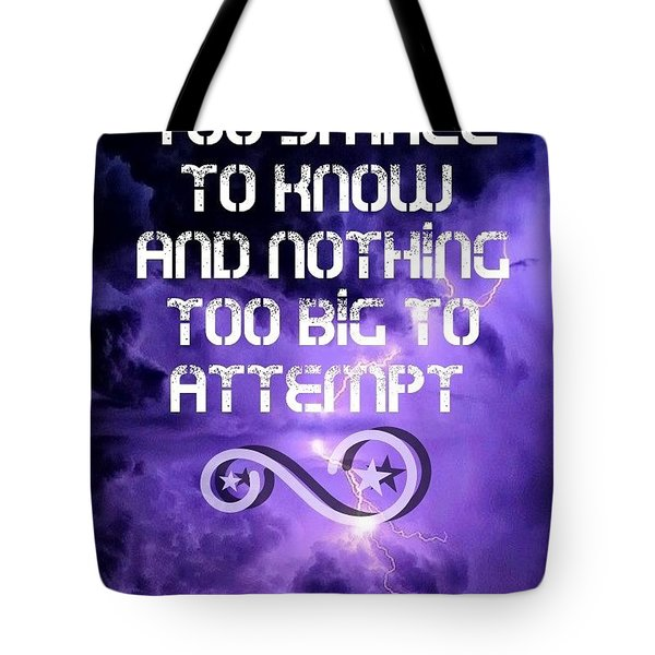 Nothing Too Small Tote Bag