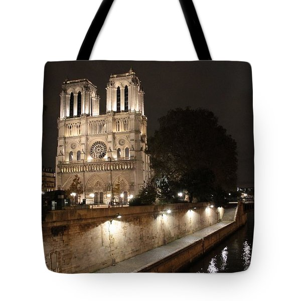 Notre Dame Cathedral From Petit Pont Tote Bag