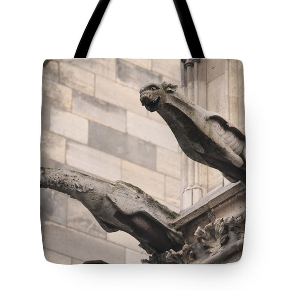Notre Dame Cathedral Gargoyles Tote Bag by Christopher Kirby