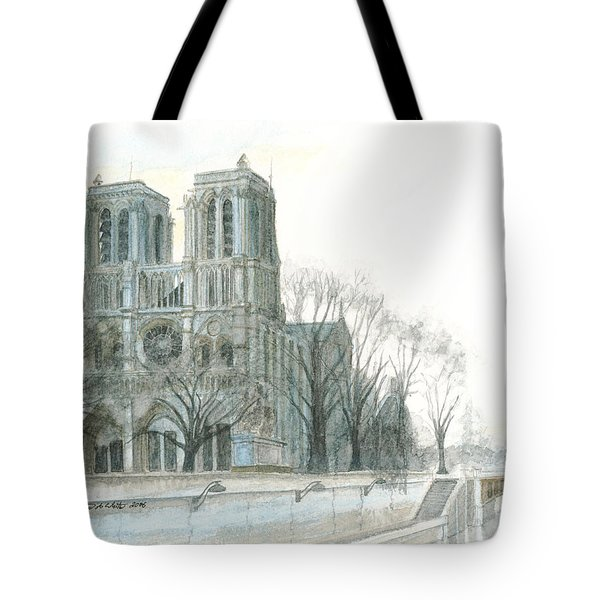 Notre Dame Cathedral In March Tote Bag