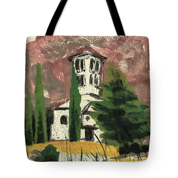 Tote Bag featuring the painting Notre Dame D'aubune by Martin Stankewitz