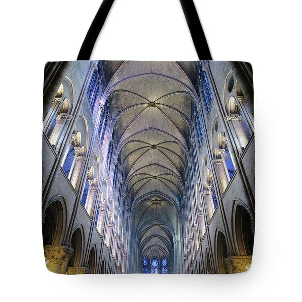 Notre Dame De Paris - A View From The Floor Tote Bag