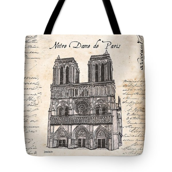 Notre Dame De Paris Tote Bag by Debbie DeWitt