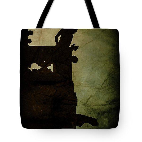 Paris, France - Gargoyle Watch Tote Bag