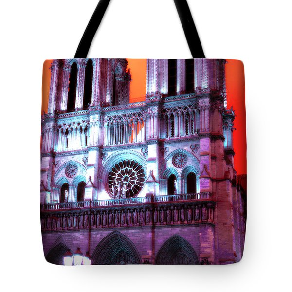 Notre Dame De Paris Pop Art 2012 Tote Bag