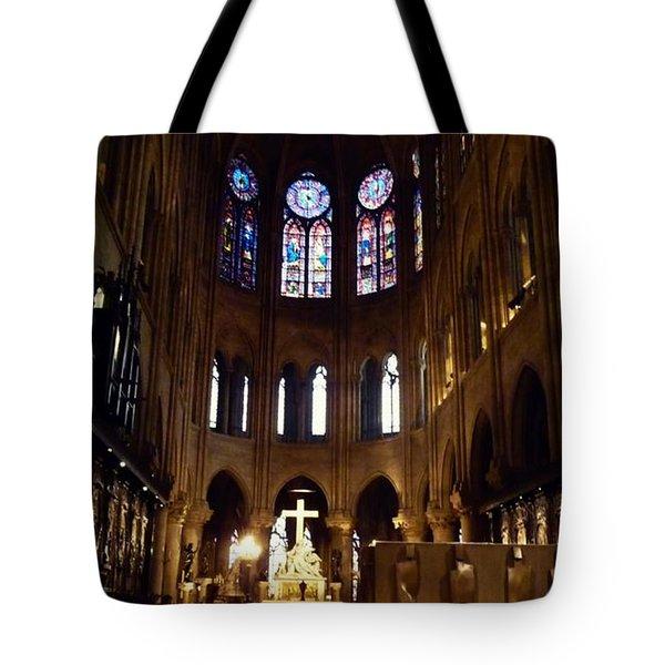 Notre Dame De Paris Tote Bag by Takaaki Yoshikawa