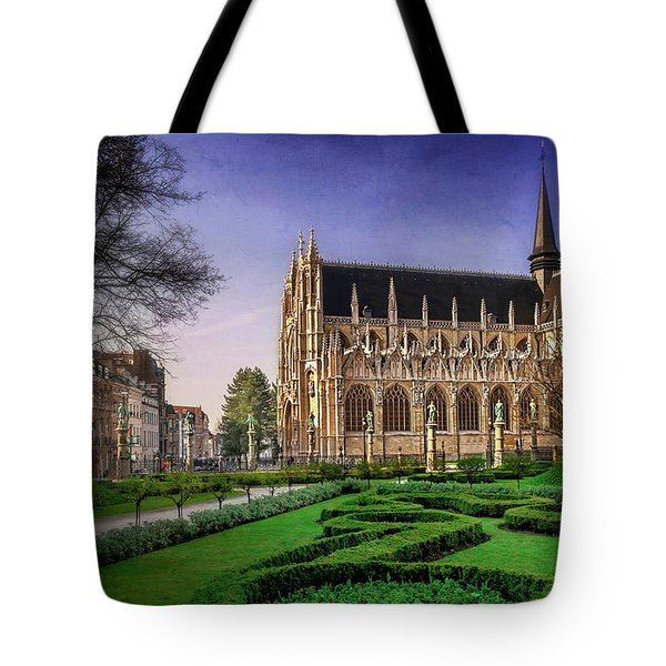 Notre Dame Du Sablon In Brussels  Tote Bag