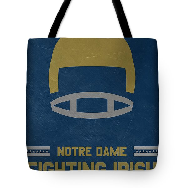 Notre Dame Fighting Irish Vintage Football Art Tote Bag