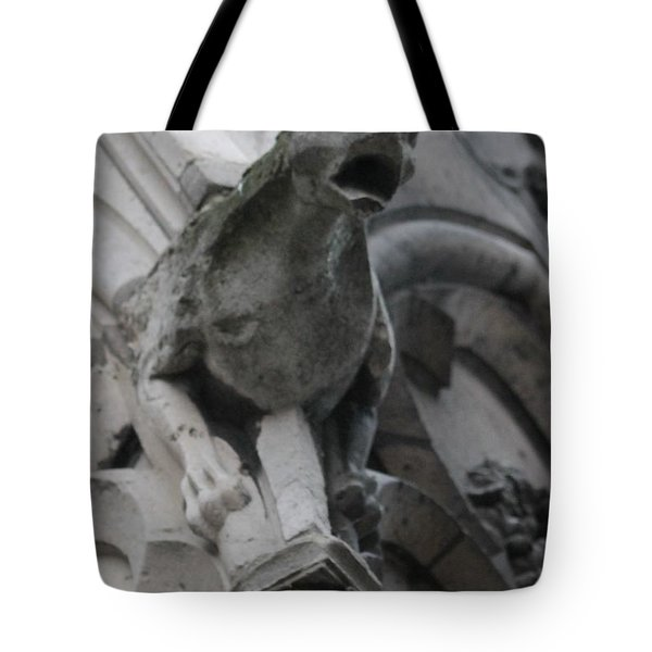 Notre Dame Gargoyle Grotesque Tote Bag by Christopher Kirby