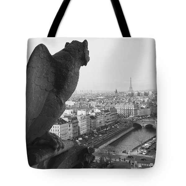 Tote Bag featuring the photograph Notre Dame Gargoyle by Victoria Lakes